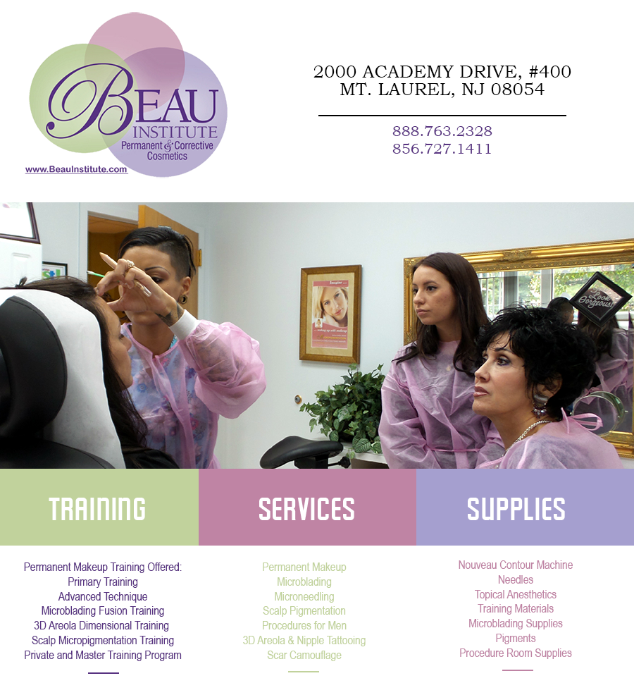 Permanent Cosmetic Makeup Training in New Jersey with Beau