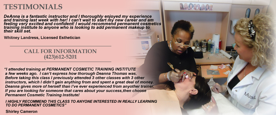 Permanent Makeup Training in Tennessee!
